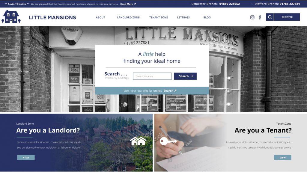 Little Mansions website