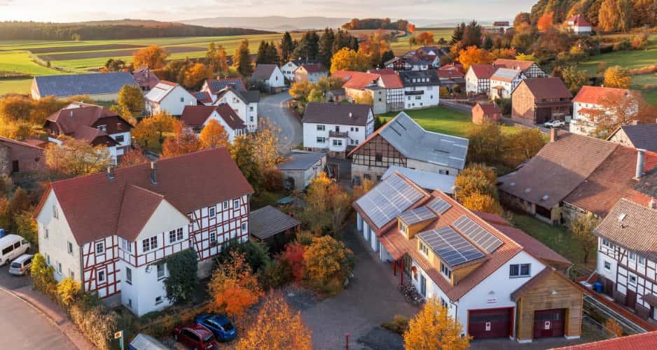 Housing in a village