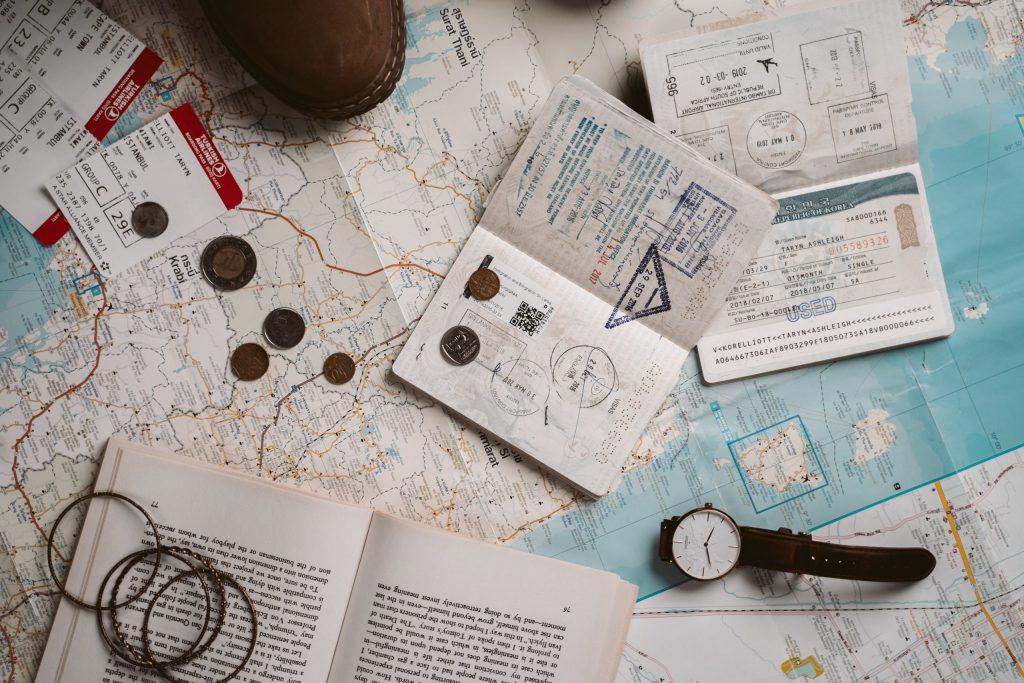 map and passports